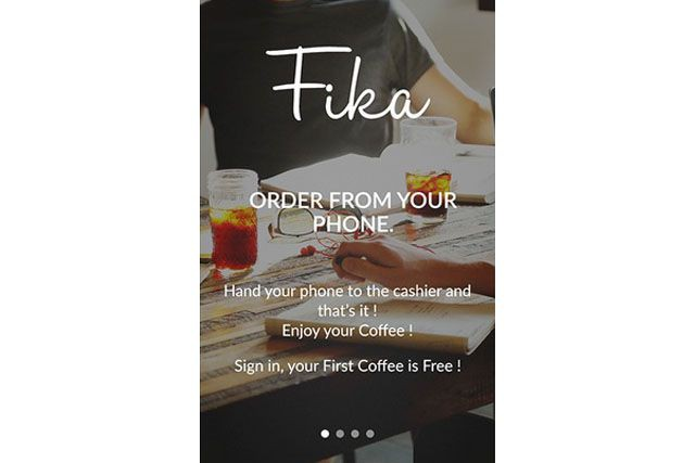 L'application Fika... (Saisie d'écran)