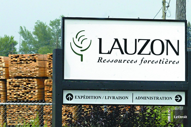 Alors que la scierie Lauzon pourrait fermer ses portes le 31 juillet en raison... (Archives, LeDroit)