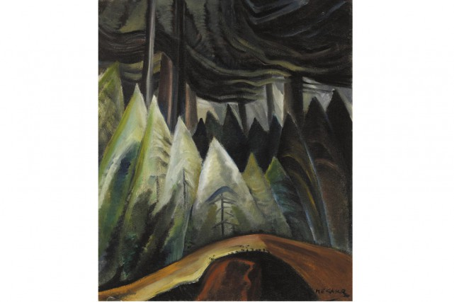 Une oeuvre de la peintre canadienne Emily Carr,... (Photo: La Presse Canadienne)