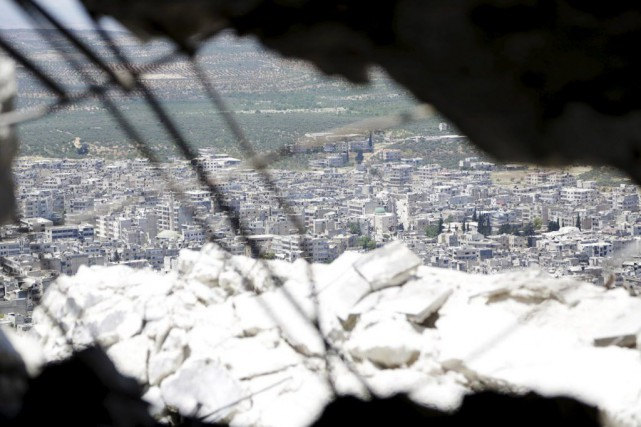 La ville d'Ariha.... (Photo Khalil Ashawi, Reuters)