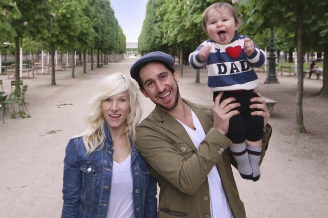 Sarah Blackwood en compagnie de son conjoint Gianni... (Photo: archives La Presse Canadienne)