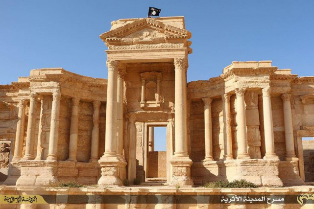 La cité antique de Palmyre en Syrie a... (PHOTO WELAYAT HOMS, AFP)