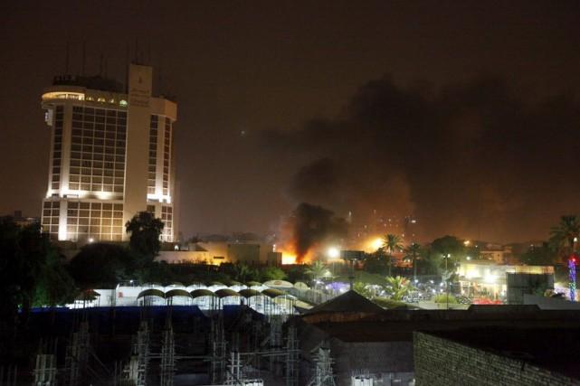 Les attaques perdurent depuis, mais à un rythme... (Photo Ahmed Saad, Reuters)