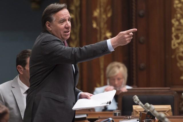 Le chef de la CAQ, François Legault... (Photo Jacques Boissinot, La Presse Canadienne)
