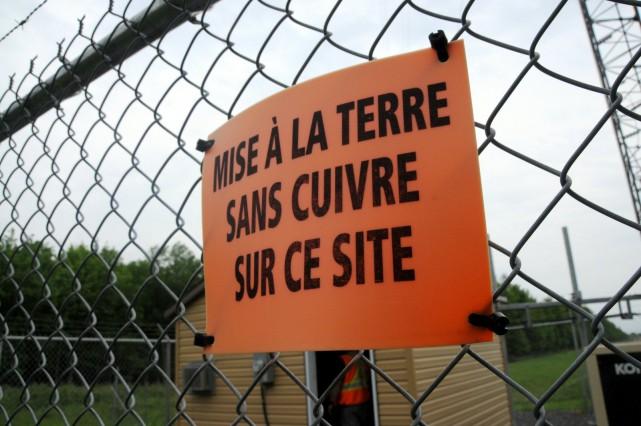 Un malfaiteur n'a pas cru bon lire l'avertissement... (Photo collaboration spéciale Éric Beaupré)