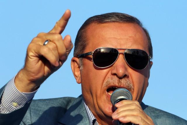 Le président Recep Tayyip Erdogan a attribué la... (PHOTO AP)