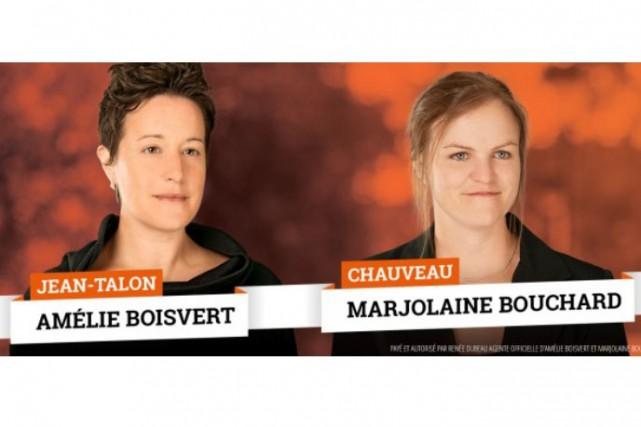 Amélie Boisvert et Marjolaine Bouchard...