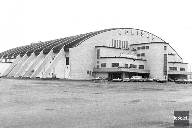 Le Colisée de Québec au début des années70... (Photo Archives Le Soleil)