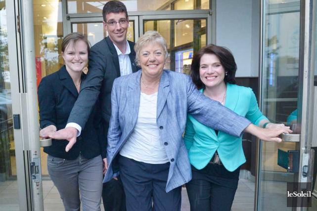 Les principaux candidats dans Chauveau qui souhaitent faire... (Le Soleil, Jean-Marie Villeneuve)