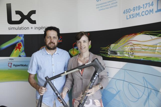 Les deux fondateurs de Lx Sim, Alessandro Del... (photo Julie Catudal)