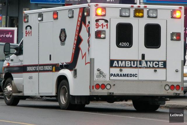 Un accident impliquant un piéton et une voiture est survenu vendredi, en fin... (Archives, LeDroit)
