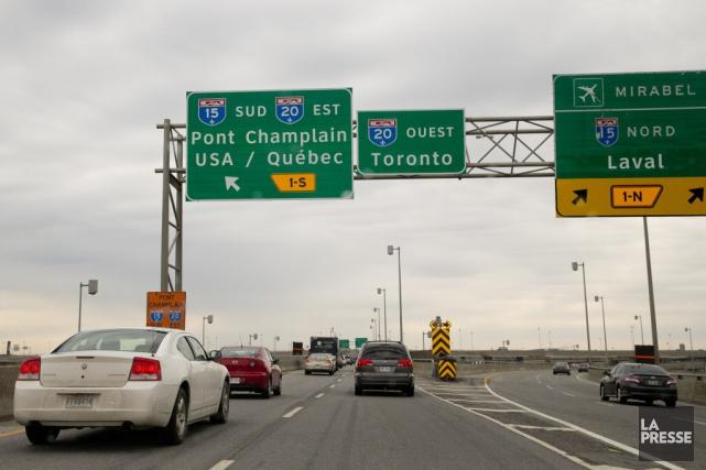 Les automobilistes circulant en direction est (vers Québec)... (PHOTO DAVID BOILY, archives LA PRESSE)