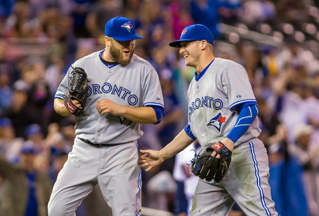 Les Jays ont mis fin à la séquence... (Photo Brad Rempel-USA TODAY Sports)