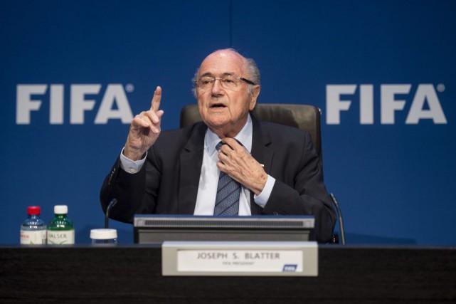 Joseph Blatter... (Photo Ennio Leanza, AP)