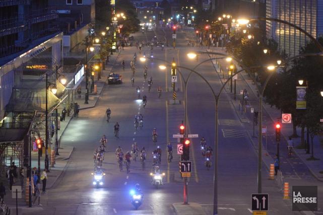 L'événement a attiré quelque 15 000 personnes, un... (Photo Bernard Brault, La Presse)