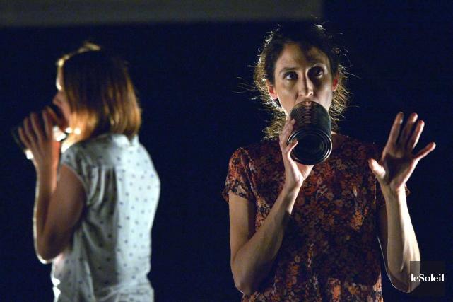 Présenté au Carrefour international de théâtre, Attentat est... (Le Soleil, Yan Doublet)