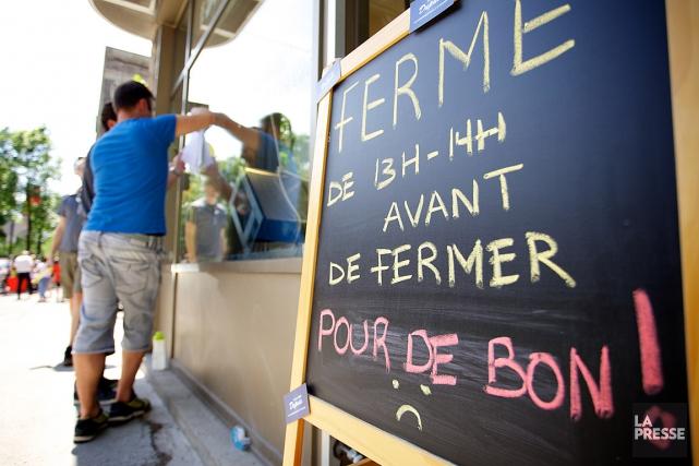 Des commerçants du petit Laurier, sur le Plateau... (PHOTO SARAH MONGEAU-BIRKETT, LA PRESSE)