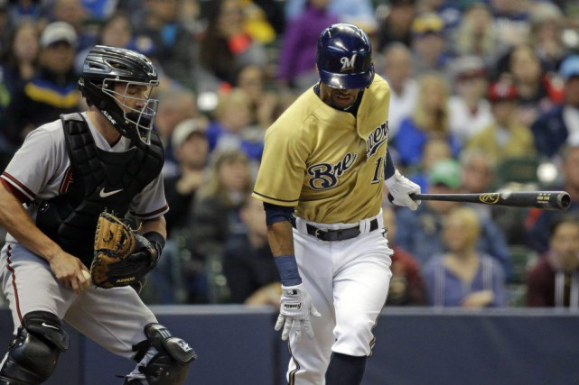 Khris Davis... (Photo Jeffrey Phelps, AP)