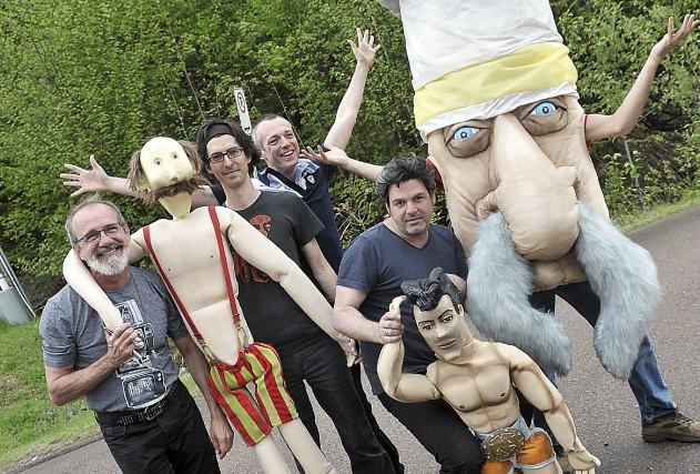Voici quelques personnages que le public découvrira dans... (Photo Le Progrès-Dimanche, Rocket Lavoie)