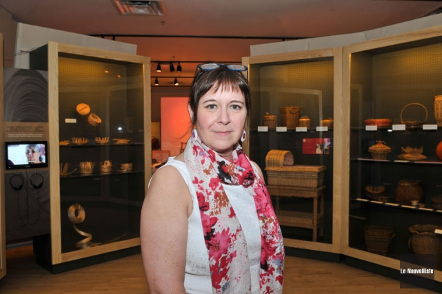 Dimanche, devant 150 invités, la directrice Michelle Bélanger... (Photo: Émilie O'Connor, Le Nouvelliste)