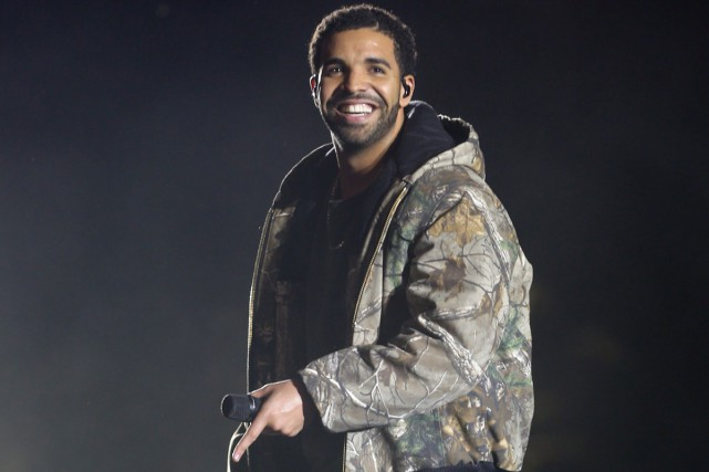 Drake lors d'un spectacle au festival Coachella.... (Photo: archives AP)