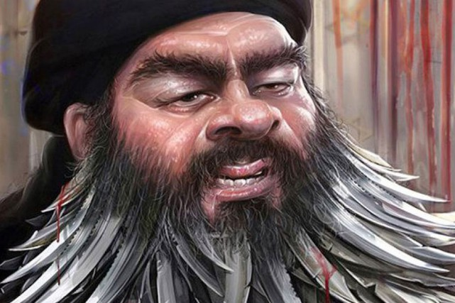 Le second prix est un portrait d'Abou Bakr... (ILLUSTRATION INTERNATIONAL DAESH CARTOON & CARICATURE CONTEST)