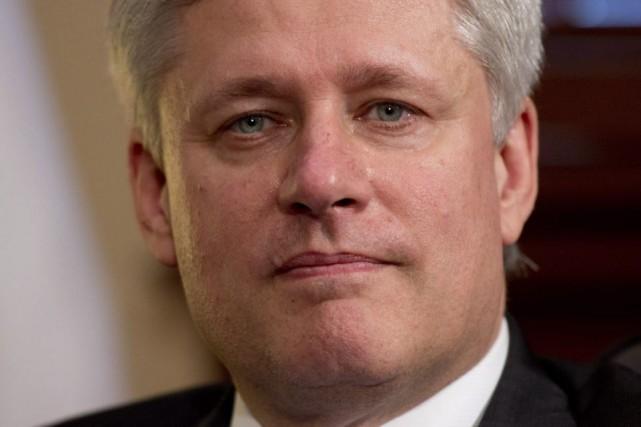 Le premier ministre du Canada Stephen Harper... (La Presse Canadienne, Adrian Wyld)