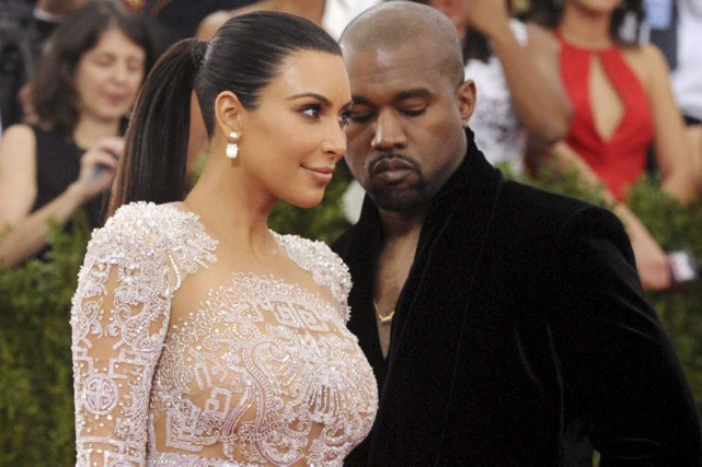 Kim Kardashian et Kanye West... (Photo: archives AP)