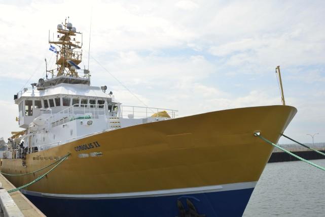 Le bateau de recherche scientifique universitaireCoriolis IIsera en... (Collaboration spéciale Johanne Fournier)
