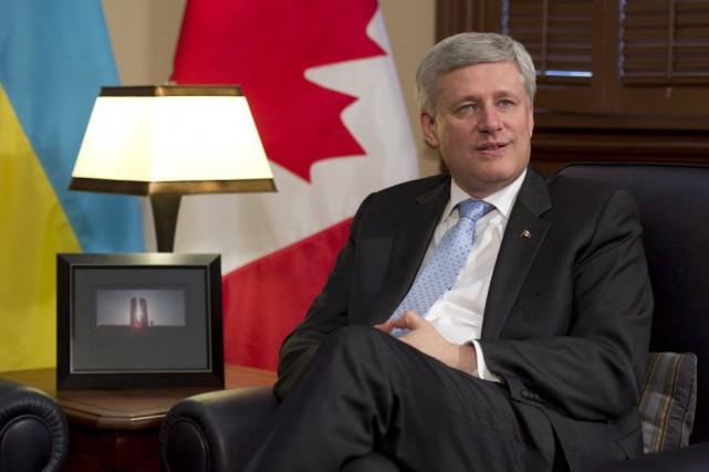 Le premier ministre Harper a annoncé cette visite... (PHOTO ADRIAN WYLD, PC)