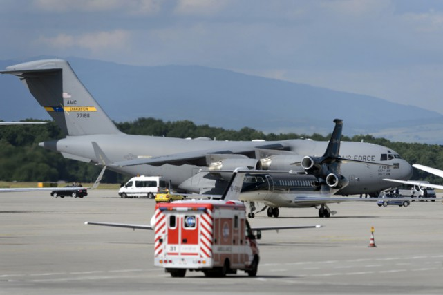 John Kerry a quitté Genève en fin d'après-midi... (Photo: AFP)