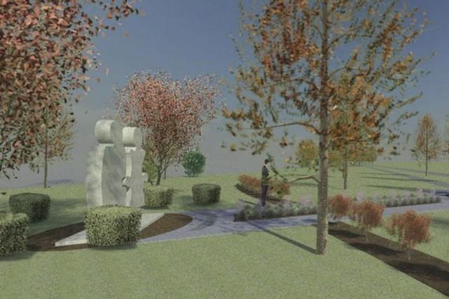 Voici l'exemple d'une «salle» d'exposition qui sera aménagée... (image fournie par Commerce et tourisme Granby et région)