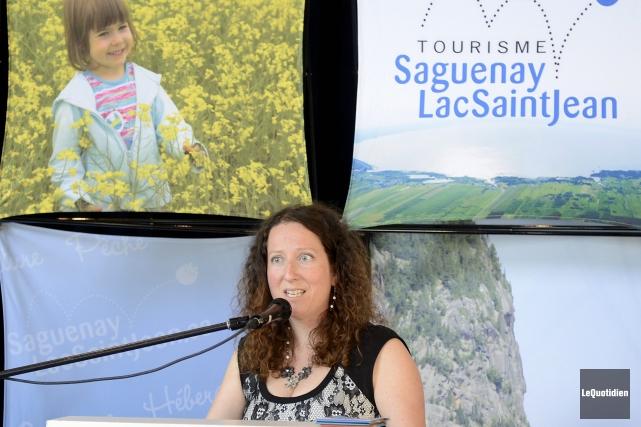 La directrice marketing et commercialisation de Tourisme Saguenay-Lac-Saint-Jean,... ((Photo Le Quotidien, Jeannot Lévesque))