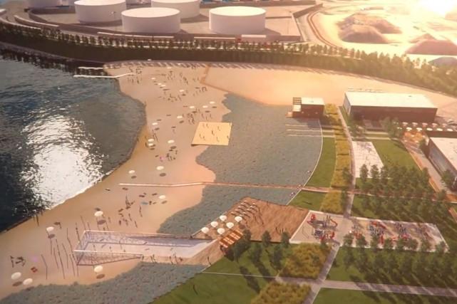 Les images dévoilées lundi montrent deuxespaces plage, un... (Image fournie par le port de Québec)