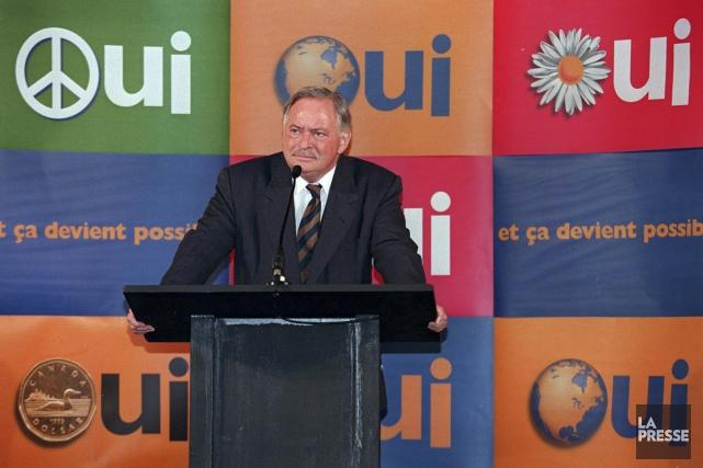 Jacques Parizeau en campagne pour le Oui le... (Archives La Presse Canadienne)