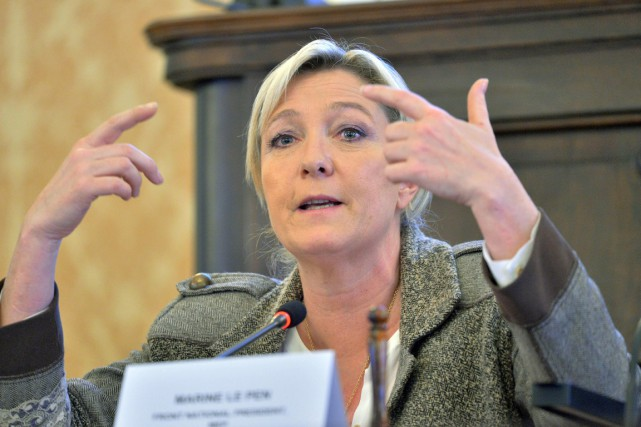 La présidente du Front national, Marine Le Pen.... (PHOTO MICHAL DOLEZAL, ARCHIVES AP)