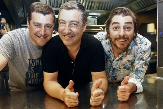 Les trois frères Roca, Joan (Chef), Josep (sommelier)... (PHOTO QUIQUE GARCIA, AFP)