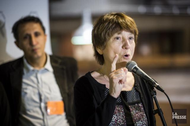 Françoise David a présenté Jacques Parizeau comme une... (PHOTO OLIVIER PONTBRIAND, ARCHIVES LA PRESSE)