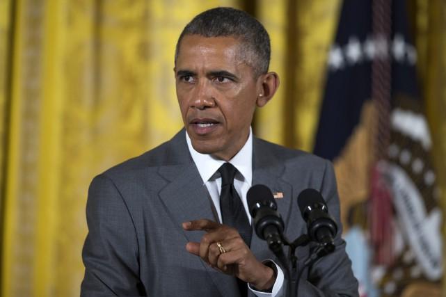 Le président américain Barack Obama... (Photo Evan Vucci, AP)