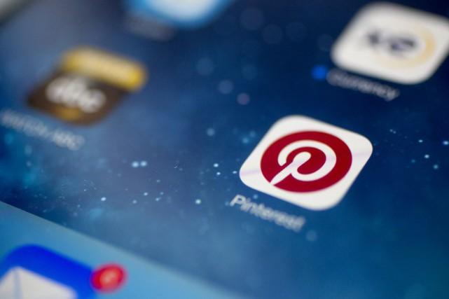L'application américaine Pinterest, qui permet d'épingler des photos liées à... (Photo Andrew Harrer, Bloomberg)