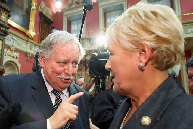 Après la démission de Jacques Parizeau au lendemain... (Photo La Presse Canadienne, Clément Allard)