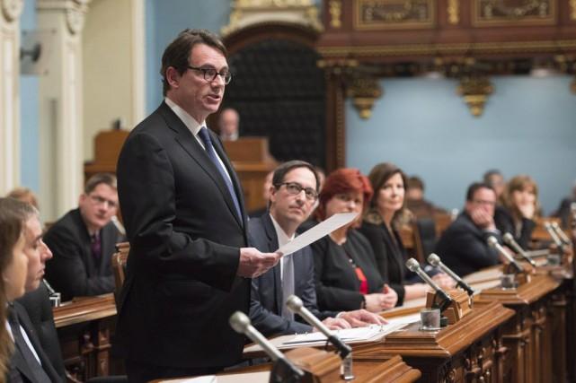 Pierre Karl Péladeau... (PHOTO JACQUES BOISSINOT, LA PRESSE CANADIENNE)
