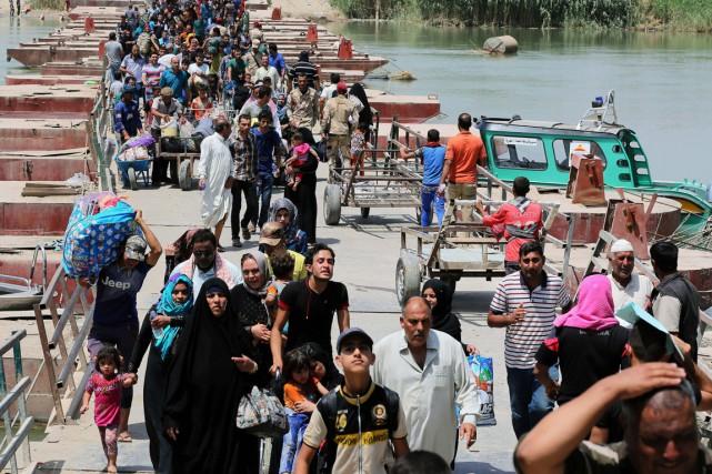 Selon des responsables locaux, la «guerre de l'eau»... (PHOTO KARIM KADIM, ARCHIVES AP)