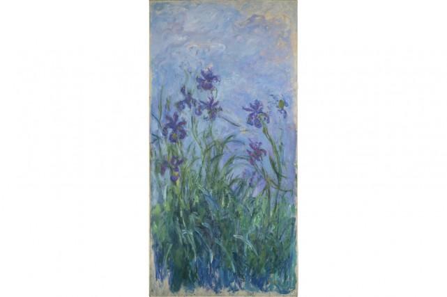 L'oeuvre Iris mauves de Monet a une valeur... (PHOTO AP)