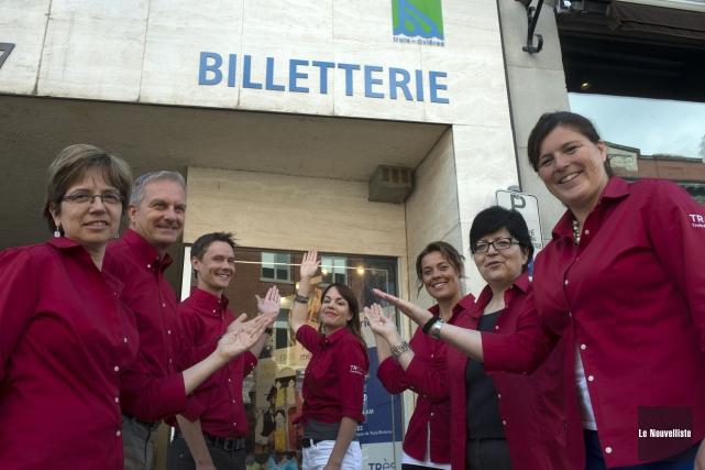 Sylvie Plante, Jean Perron, Éric Labarre, Laurie Neault,... (Photo: Stéphane Lessard Le Nouvelliste)