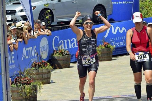 Karine Champagneespère participer au Demi-Ironman et au Ironman... (Photo tirée de Facebook)