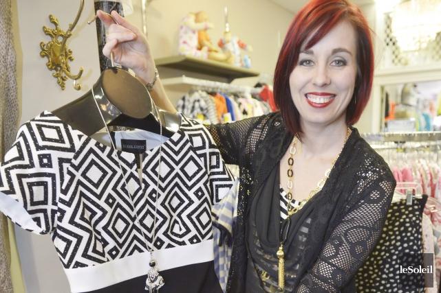 Audrey Marchand est propriétaire de la Boutique Maddie.... (Le Soleil, Jean-Marie Villeneuve)