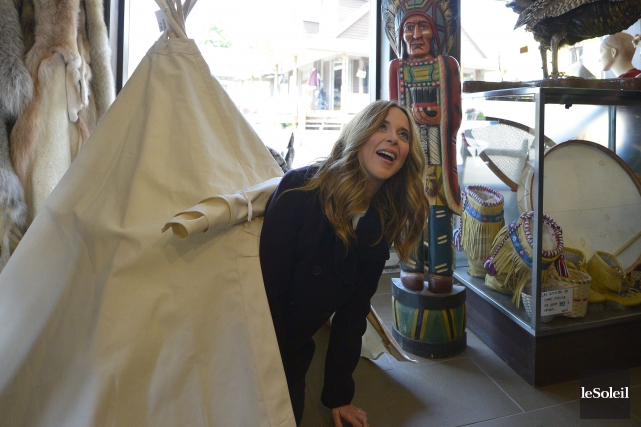 Julie Snyder était à Québec mercredi pour donner... (Le Soleil, Yan Doublet)