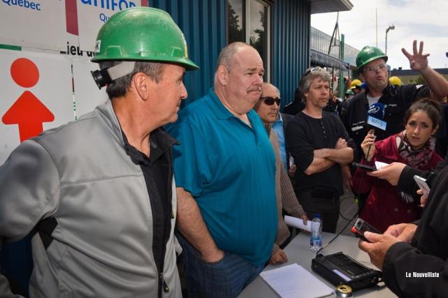 Les travailleurs du local 136 d'Unifor doivent se... (Photo: François Gervais, Le Nouvelliste)