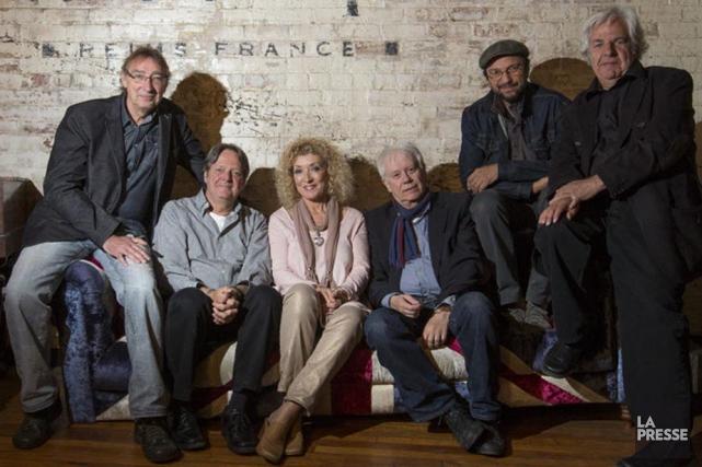 Six des sept membres de Beau Dommage, soitMichel... (Photo: Ivanoh Demers, La Presse)